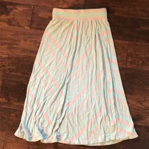 Jersey teal and gray girls skirt